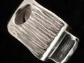 Aquamarin-Ring, 925er Silber