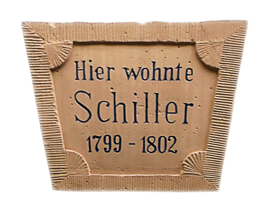 Hier wohnte Schiller.